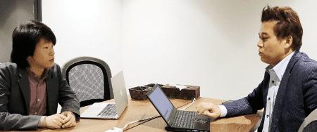 「ヌーラボの業務スタイルそのままのマネジメントシステムが構築できました」左;漢氏(※右は弊社幸松)