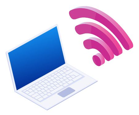 WifiとPCのイメージ図