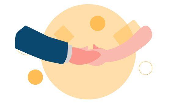 握手のイメージ図