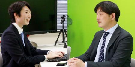 「今後の運用面でも継続サポートをお願いしたいと考えています」(右:小泉氏)※左は弊社・宮崎
